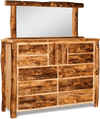 Rustic Pine 10 Drawer 1 Door Dresser