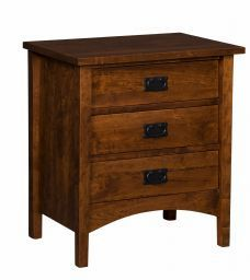 Arts & Crafts 3 Drawer Nightstand