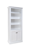 Shaker Bookcase with Bottom Doors