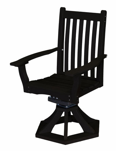 Swivel Rocker Side Chair Poly Lumber