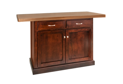 Shaker Kitchen Island with Butcher Block Top