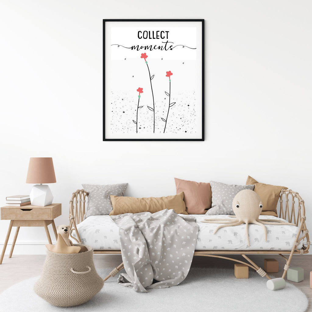 Collect Moments Floral Nursery Print - Collect Moments Floral Nursery Print