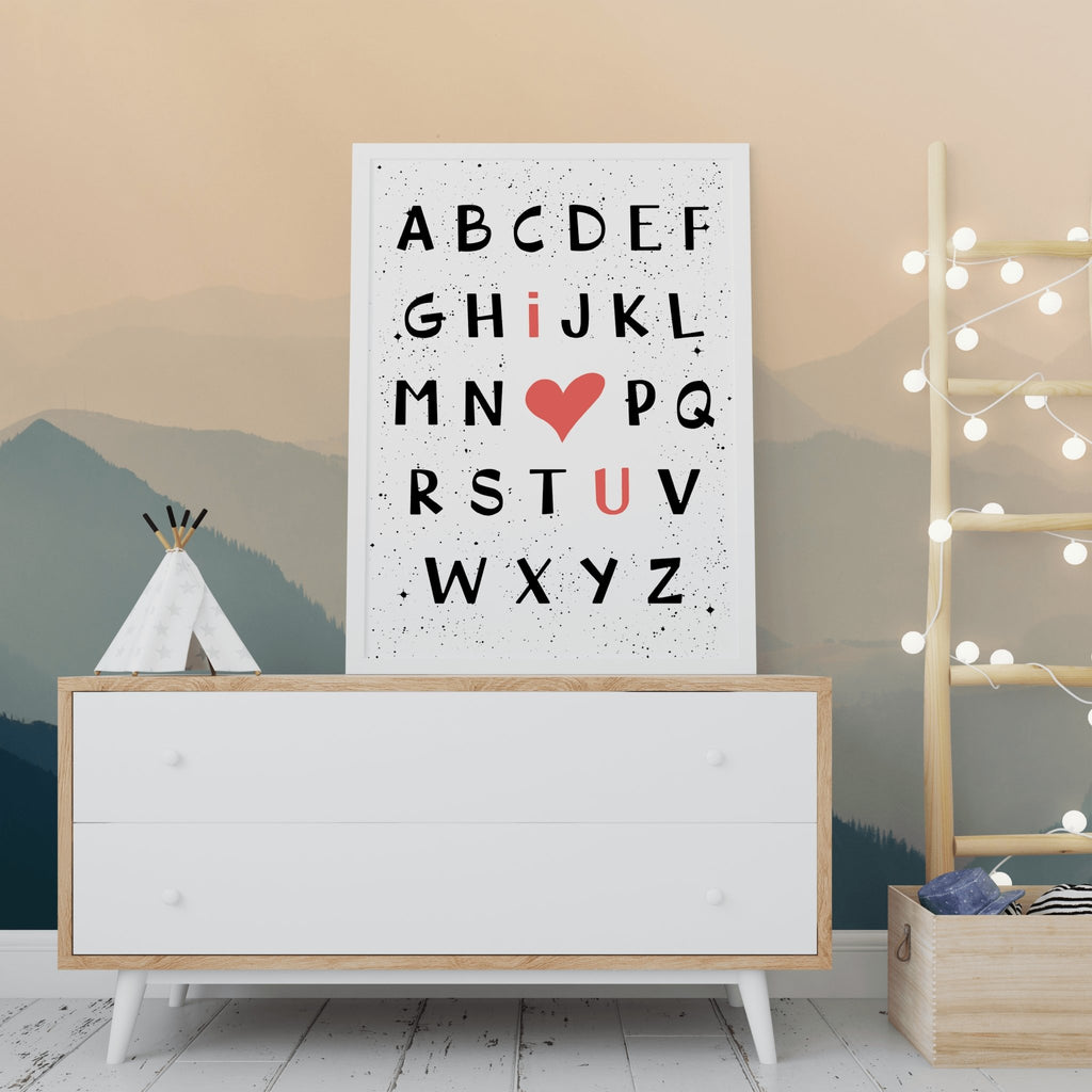 I Love You Alphabet Letters Free Wall Art Printable | Colorful Pastel Rainbow Nursery Wall Decor | Minimal Scandi Art - I Love You Alphabet Letters