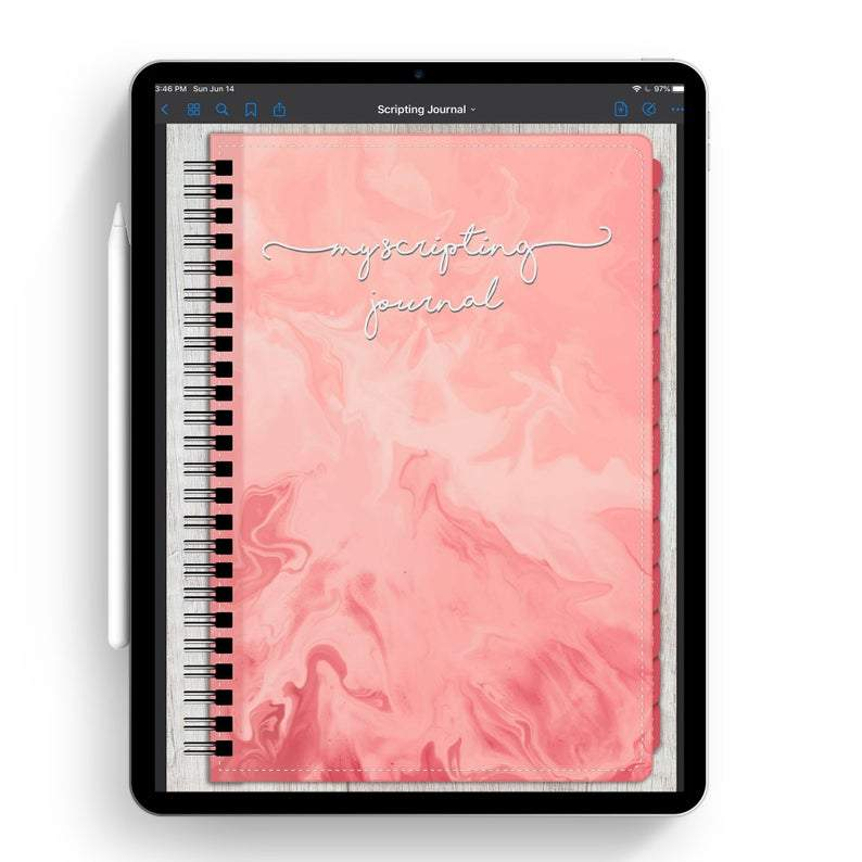 Law Of Attraction Scripting Manifestation Digital Goodnotes Journal | Visualization Affirmations Planner - Manifestation Scripting Digital Journal - Light Mode