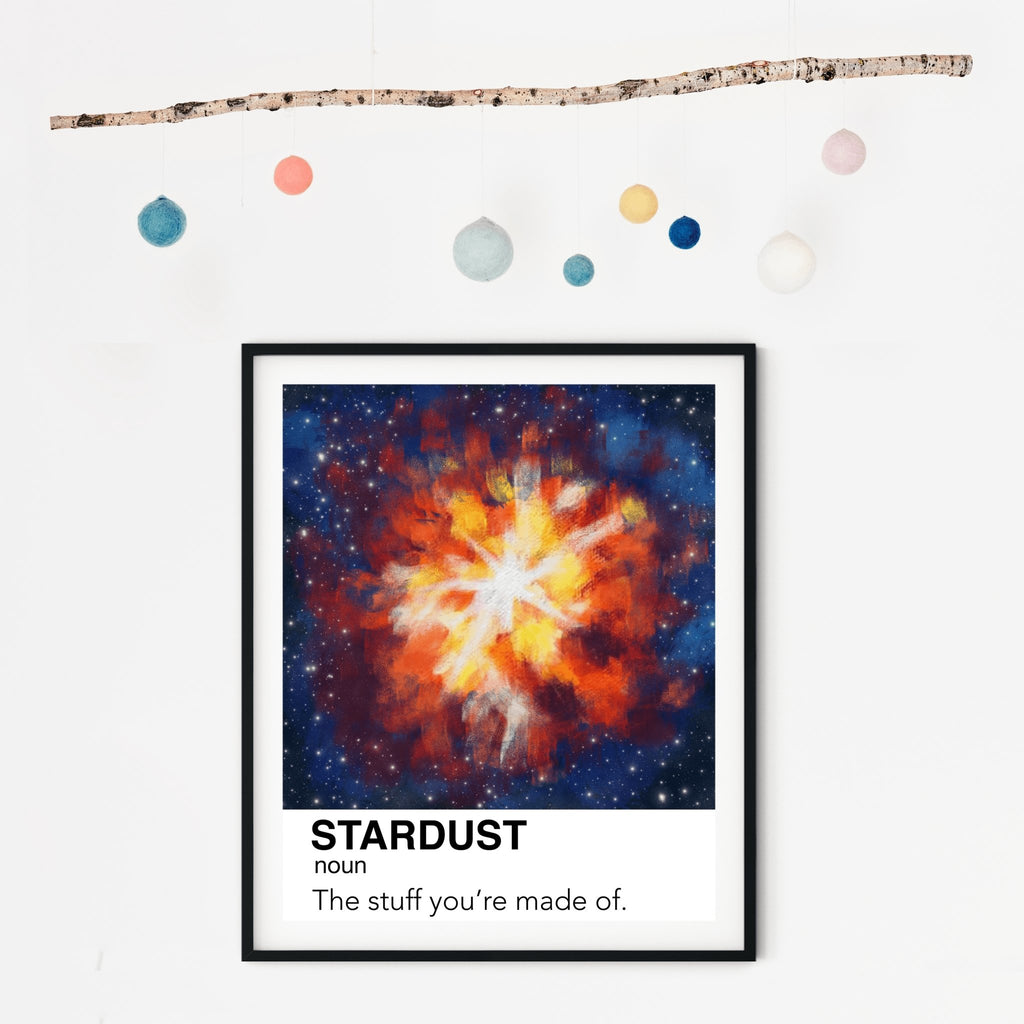 Outer Space Theme, Stardust Art, Science wall art, Space nursery art print, Inspirational quote, Astronomy lover gift, Science nerd gift - You Are Made of Stardust