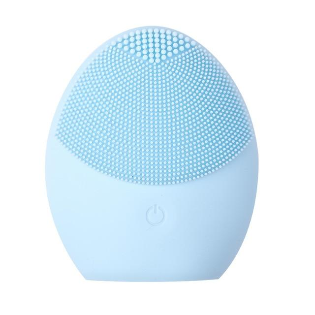Silicone Facial Cleansing Brush GlorialSkin SkyBlue