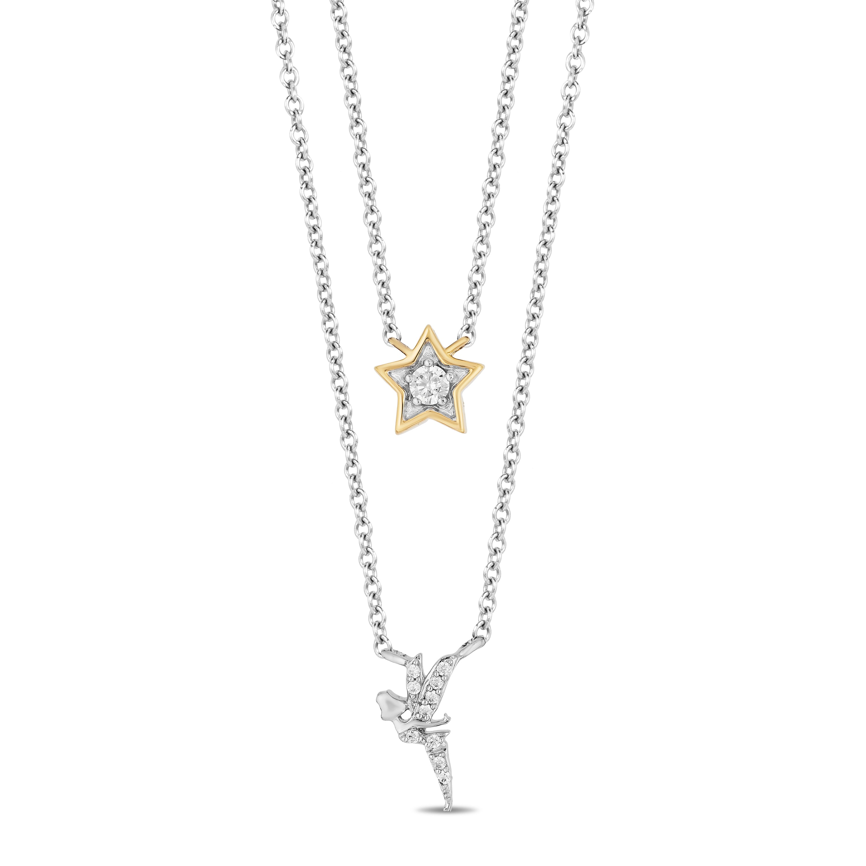 enchanted_disney-tinker-bell_double_chain_necklace-9k_yellow_gold_and_sterling_silver_0.10CTTW_1