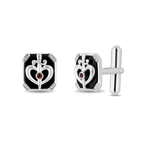 enchanted_disney-prince_fine_jewelry_sterling_silver_0_05_cttw_garnet_black_onex_snow_white_cufflinks_0.05CTTW_2