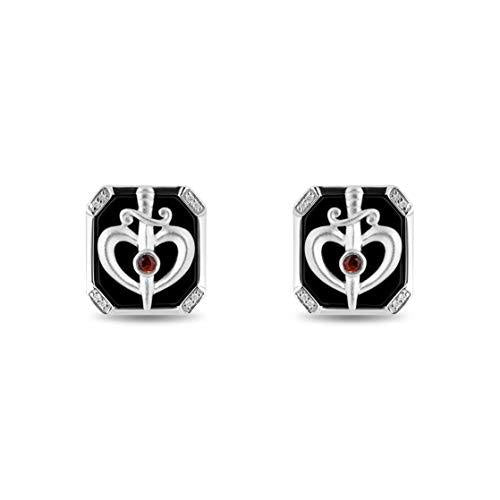 enchanted_disney-prince_fine_jewelry_sterling_silver_0_05_cttw_garnet_black_onex_snow_white_cufflinks_0.05CTTW_1