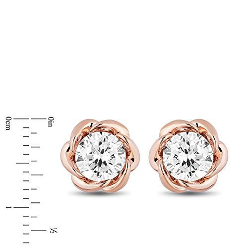 enchanted_disney-belle_1cttw_diamond_solitaire_earrings-14k_pink_gold_1CTTW_3