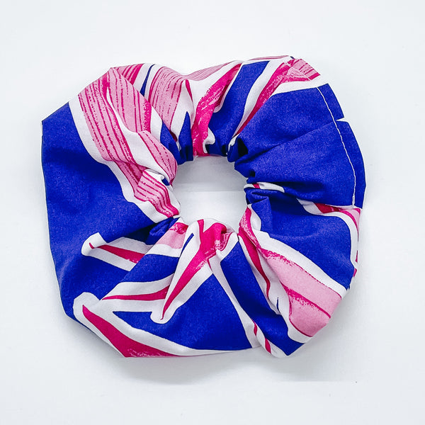 PURPLE PALM SCRUNCHIE