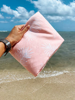 PEACH PALM TOWEL