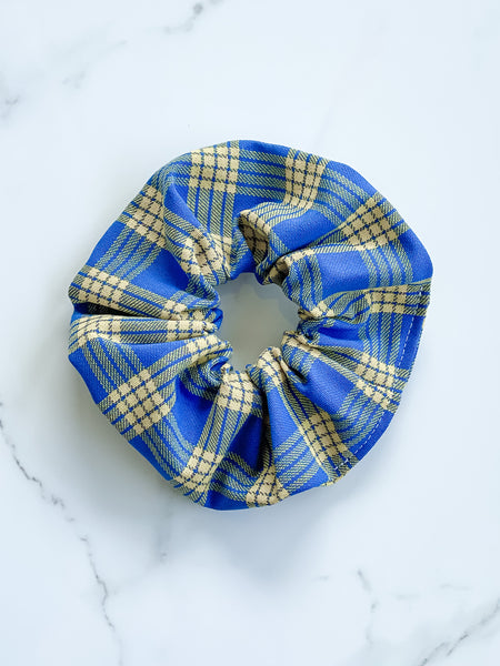 BLUE AND YELLOW PALAKA SCRUNCHIE