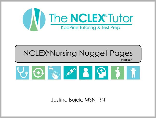 NCLEX Nursing Nugget Pages Book