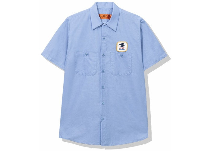 Anti Social Social Club x USPS Work Shirt Azul Claro