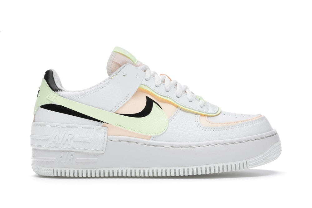 Nike Air Force 1 Low Shadow Summit White Barely Volt Crimson Tint