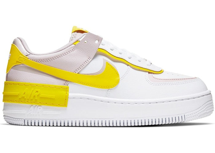 Nike Air Force 1 Shadow White Barely Rose Speed Yellow (Mujer)