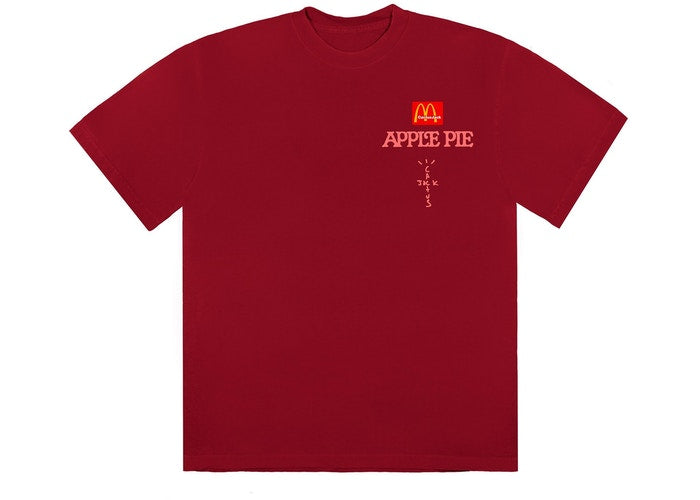 Travis Scott x McDonald's Apple Pie T-Shirt Roja
