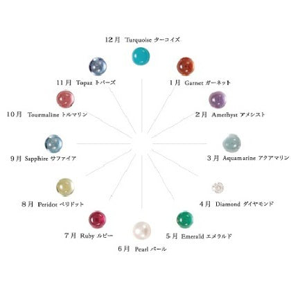 1143A<br>バースストーンピンキーリング<br>- priere -<br>Birthstone pinky ring