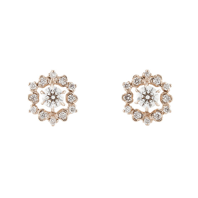 1105A<br>ダイヤモンドピアス<br>- reticella -<br>Diamond pierced-earrings