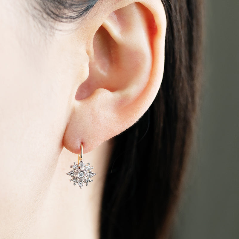 925A_HS<br>ダイヤモンドピアス<br>- Sunset Mirage -<br>Diamond pierced-earrings