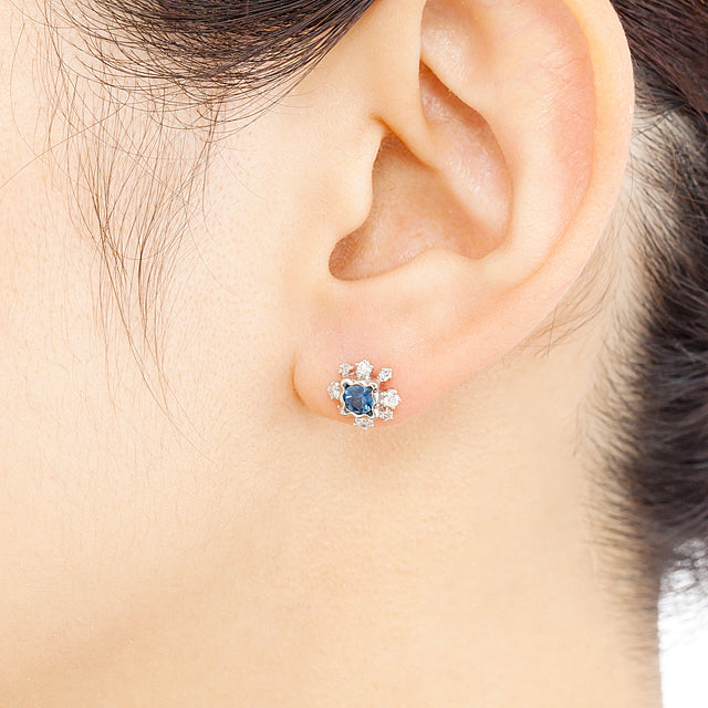 1195C<br>ブルーサファイアピアス<br>Blue sapphire pierced-earrings