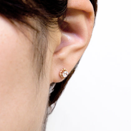 1055A<br>フェルスパーピアス<br>- Clara -<br>Felspar pierced-earrings