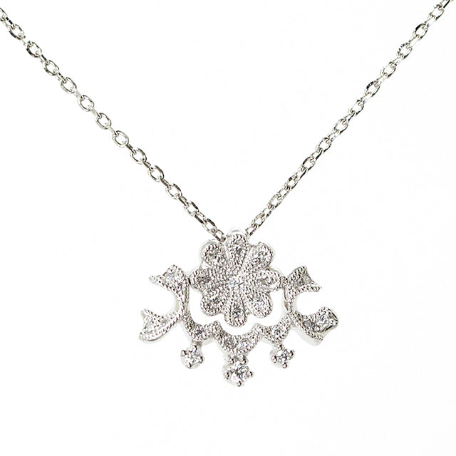 1059A<br>ダイヤモンドネックレス<br>- Waltz of the Flowers -<br>Diamond necklace