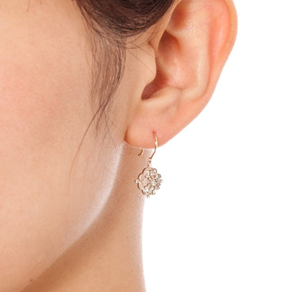 1169A_AP <br>ダイヤモンドピアス<br>- Damask -<br>Diamond pierced-earrings