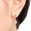 463B<br>ハーフパールピアス<br>Half-pearl pierced-earrings