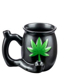 Roast & Toast Cannabis Leaf Pipe Mug