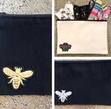 B KEEPER CANVAS ZIPPERED BAG