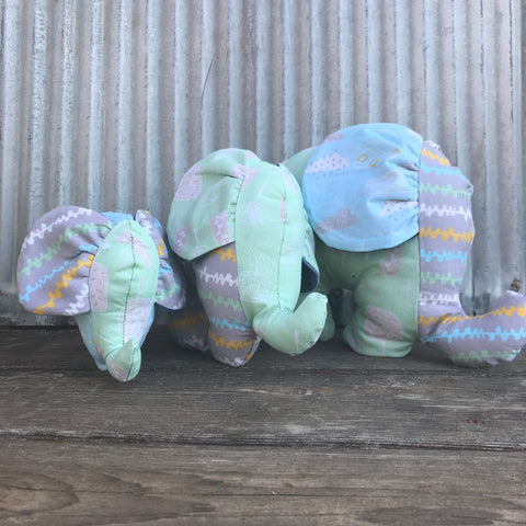 Animals: Elephants Pastel FAmily
