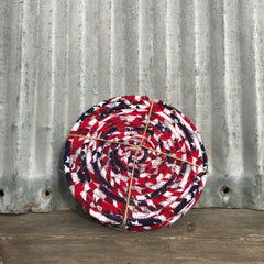 Coasters: Fabric Coiled Red