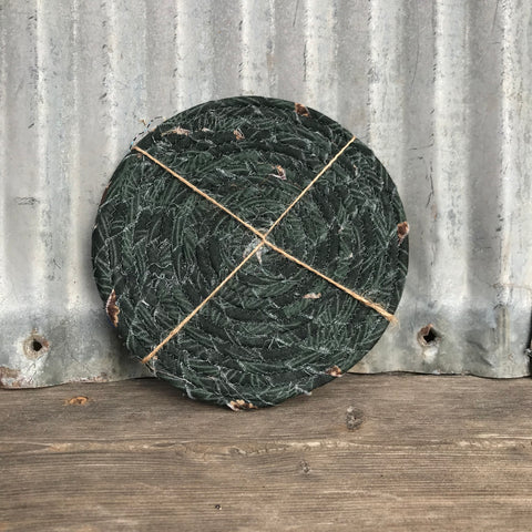 Coasters: Fabric Coiled Green