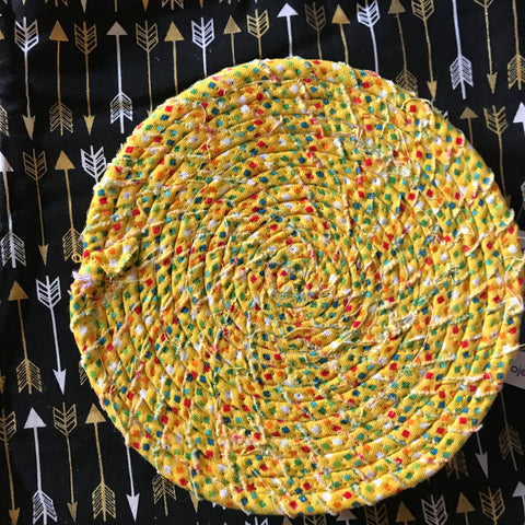Coasters: Fabric Coiled Fiesta