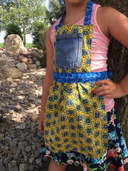 Apron: Azure  Reversible Child