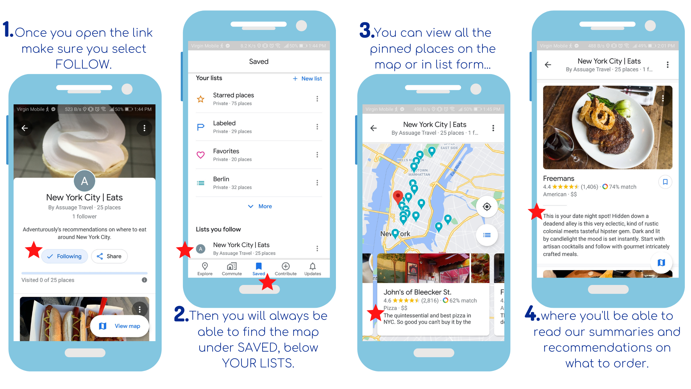 How to access and save the map in your Google Maps.