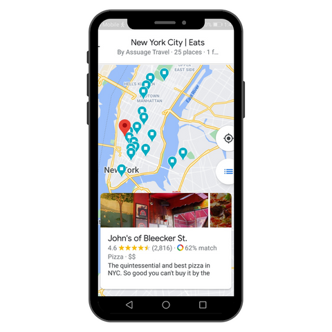 Adventurously's Google Map of where to eat in NYC.