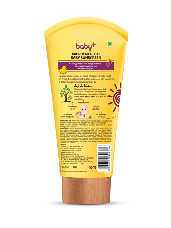 Lotus BABY+ SUNSCREEN SPF 20 PA+++