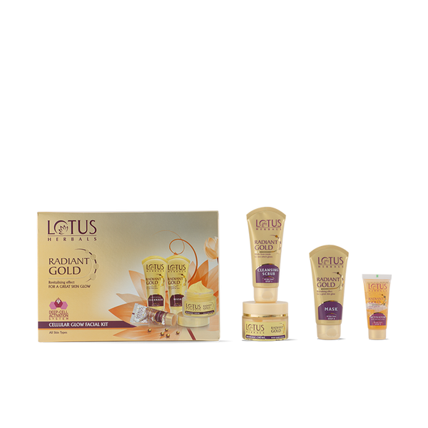 RADIANT GOLD Cellular Glow Salon Grade FACIAL KIT