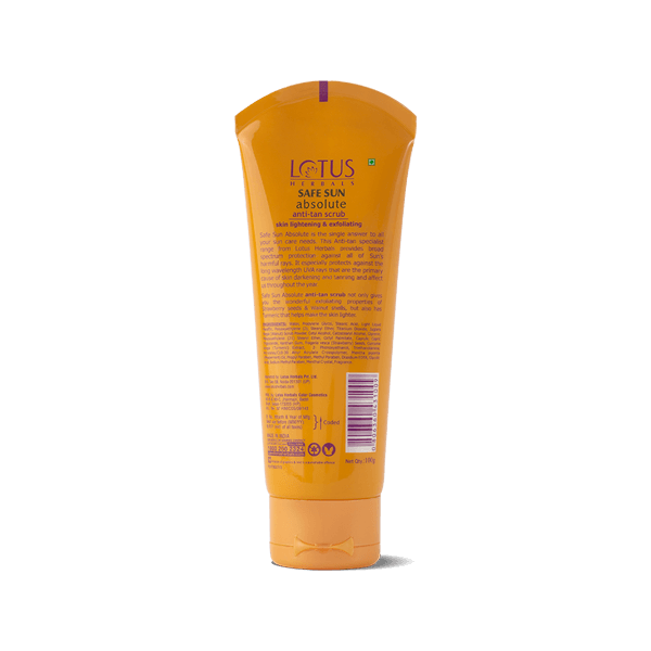 Absolute Anti-tan Scrub - Lotus Herbals