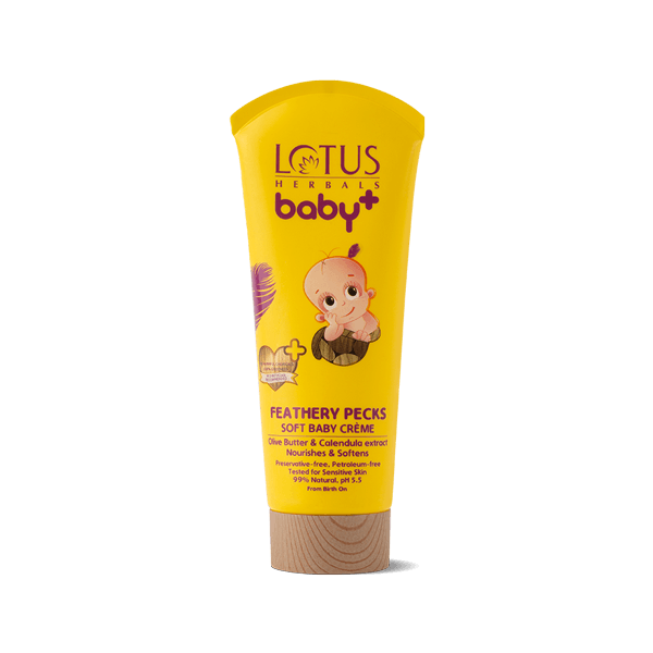 BABY+ FEATHERY Pecks Soft Baby Creme - Lotus Herbals