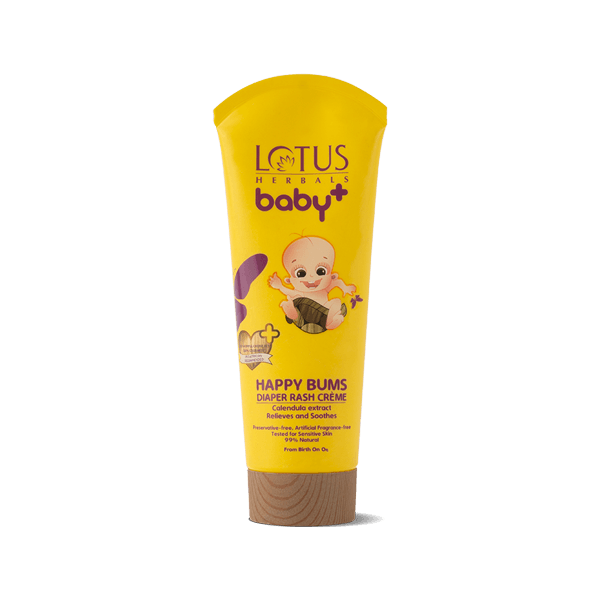 BABY+ HAPPY Bums Diaper Rash Crème - Lotus Herbals