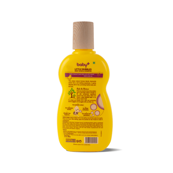 BABY+ LITTLE Bubbles Body Wash & Shampoo - Lotus Herbals