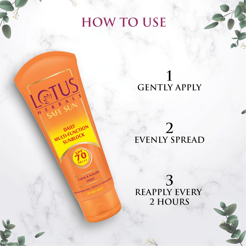 DAILY MULTI-FUNCTION SUNBLOCK SPF 70 PA+++ - Lotus Herbals