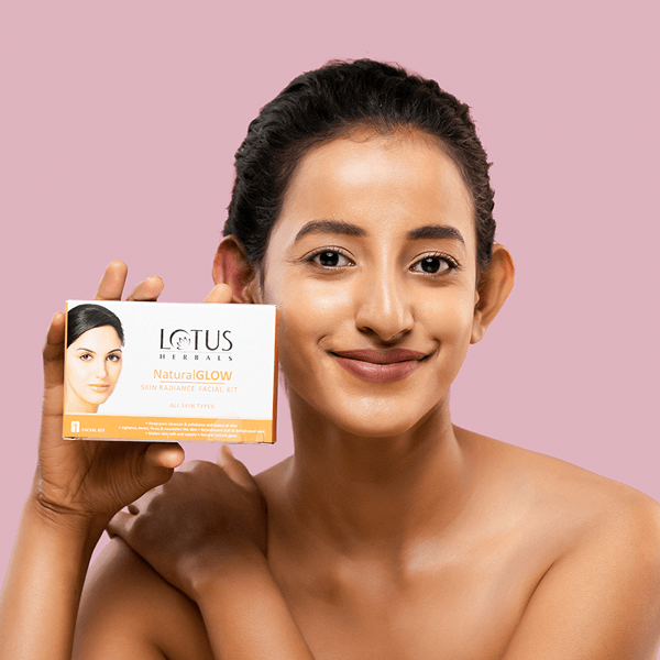 Natural Glow Skin Radiance Salon Grade 4 Facial Kit - Lotus Herbals