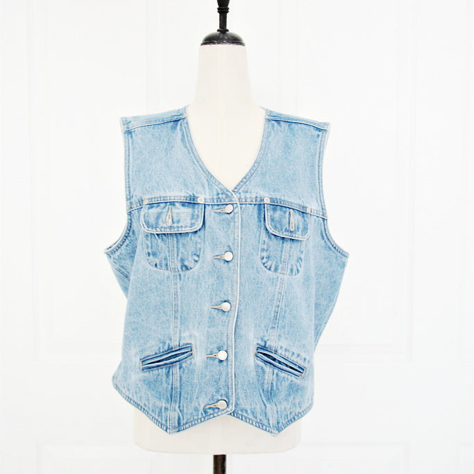 St. John Bay Denim Vest