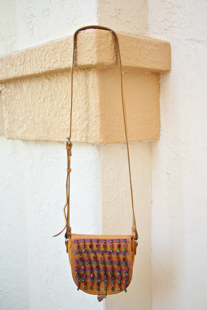 Dangling Leather Crossbody Bag