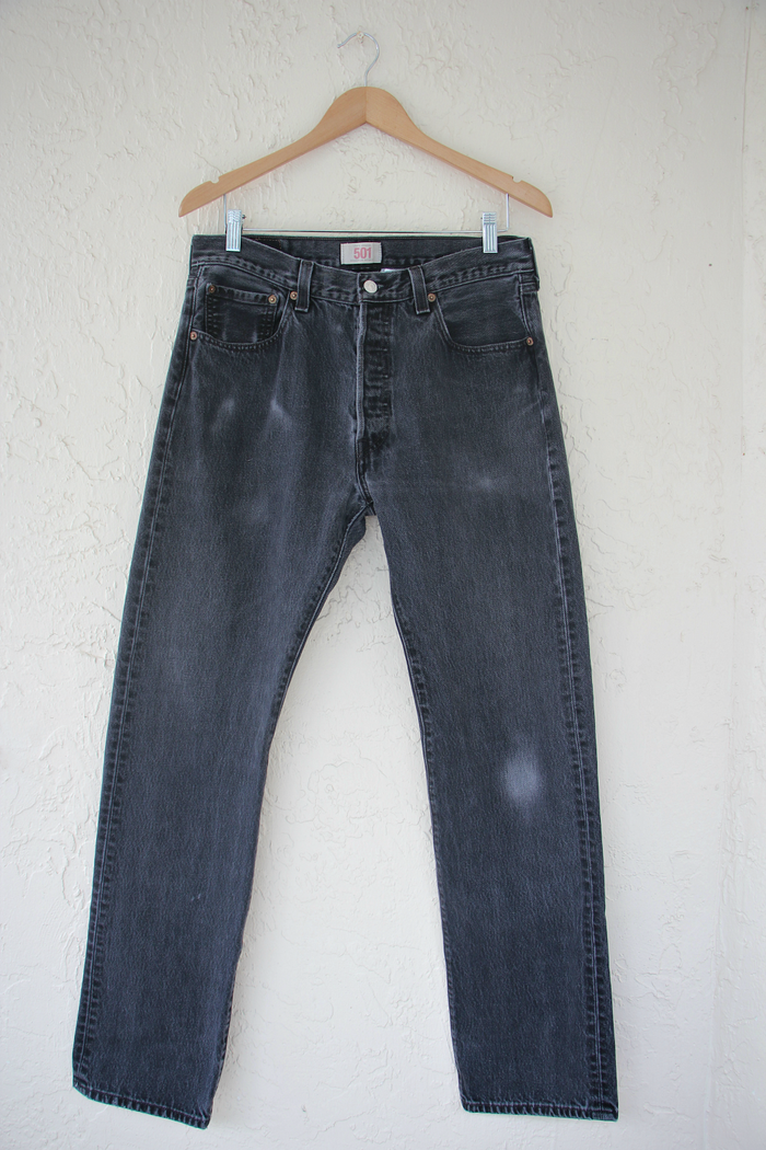 Black Vintage 501 Levi's Denim